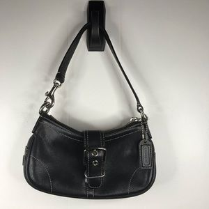 Coach Black Leather Classic Shoulder Bag